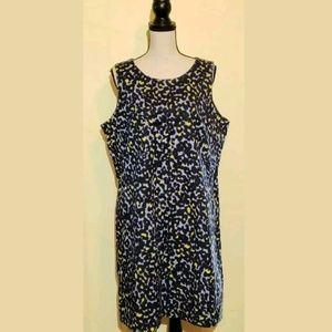 GAP Cheetah Animal Print Dress Sheath Career Blue